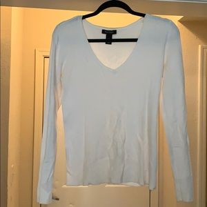White House Black Market White Sweater S